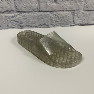 American Eagle clear sparkly jelly slides size 8